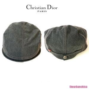 Dior Accessories - CHRISTIAN DIOR Gray w  Pink Stitching Denim Hat 58fb97f8f6d